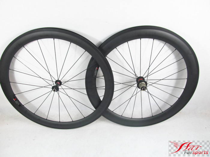 Farsports FSC5060 CM 25 China 700c road clincher carbon wheels with Novatec hub (50mm 60mm x 25mm)|carbon wheels|clincher carbon wheelsroad clincher - title=