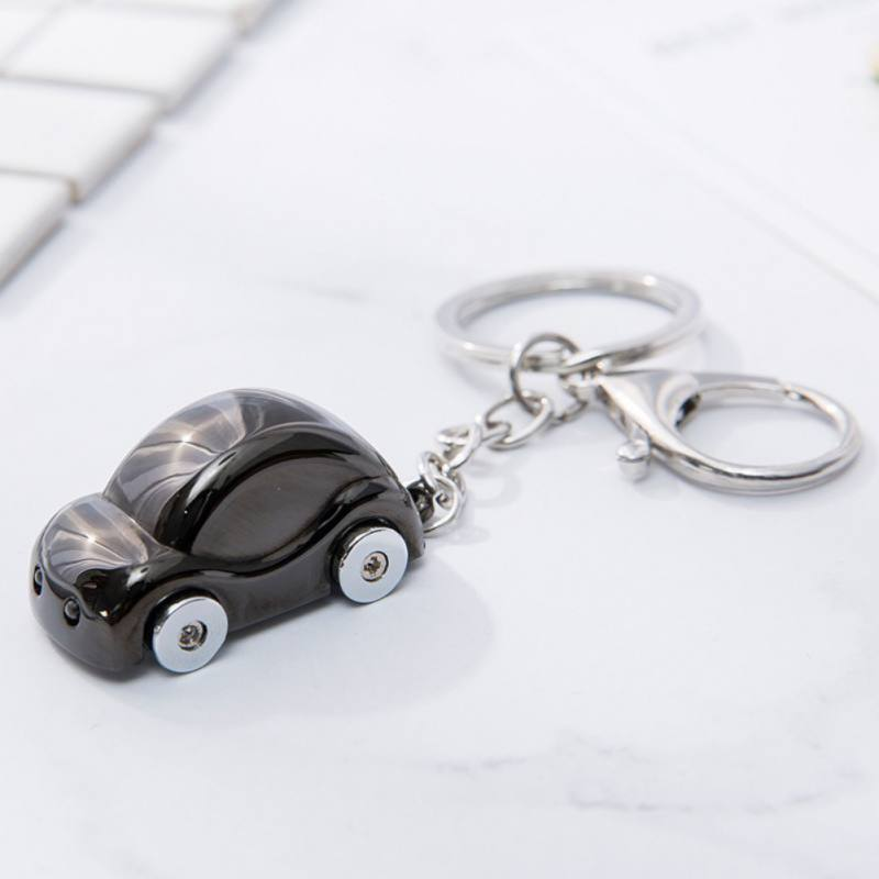 Metal Car-styling Keychains Key Holder Car Rings Shape Keyring