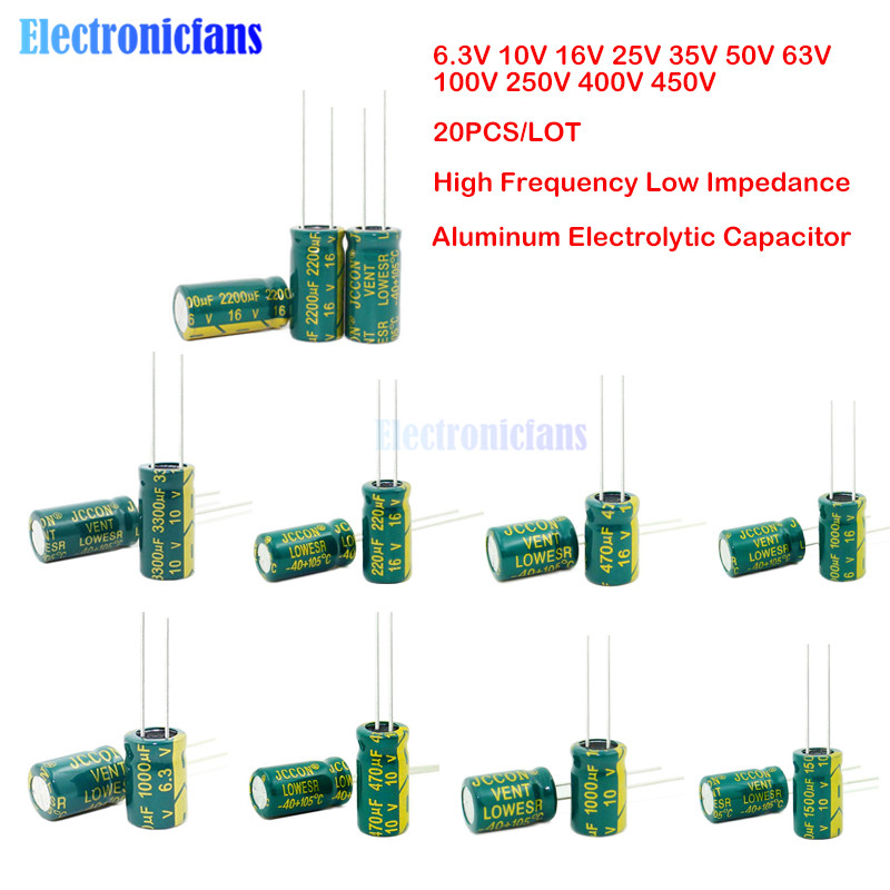 20 PCS 100uF 50V 105C Radial Electrolytic Capacitor 8x12 mm NEW