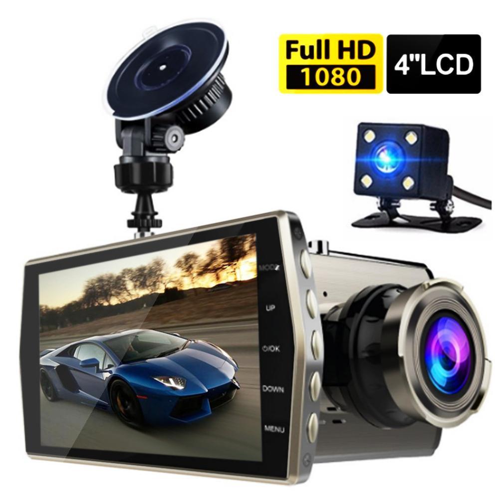 NEW Dual Lens LCD Car DVR Camera Full HD 1080P Dash Cam Video Recorder G-sensor