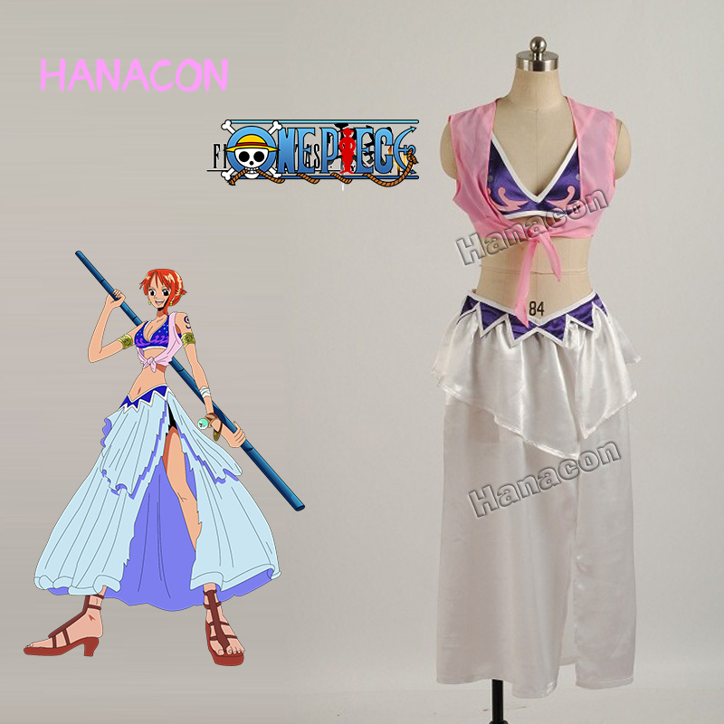 One Piece Nami Cosplay Costume Nami Dress Costume Cosplay Girl Sexy Dresses Skirt Outfit Halloween Hot Anime Cosplay Customized