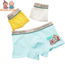 4 pcs/ lot  Boys Underwear Boxer  high quality cotton modal panties  Children  Cartoon boxer kids underwear underpants