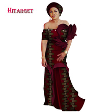 Dashiki African Dresses for Women Waistcoat Dress with Petal Sleeve Party/wedding Traditional  WY4110
