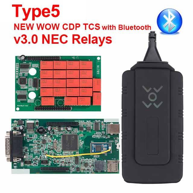 CDP TCS multidiag pro+ Bluetooth USB,00 keygen V3.0 реле NEC obd2 сканер автомобилей грузовиков OBDII диагностический инструмент - Цвет: Type5 WOW CDP BT