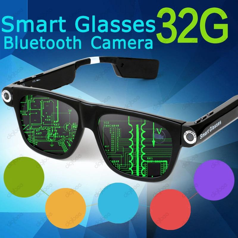 Mode Sport En Plein Air Smart Lunettes Sans Fil Bluetooth 4.0 Casque  lunettes de Soleil Caméra 24aae9e0b4d5