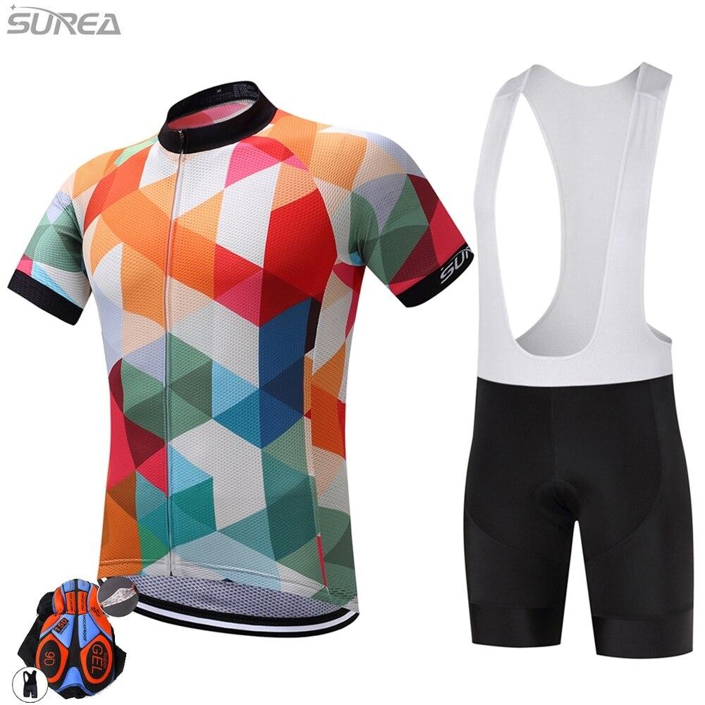 Prix pour 2017 Souréa Vélo Jersey Pro Équipe Manches Courtes Vélo Vêtements Vélo Sport Cyclisme Vêtements Respirant À Séchage Rapide D'été