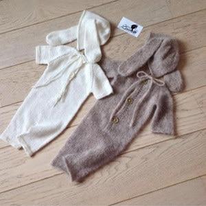 Image 3 - Neugeborenen fotografie requisiten, Nerz garn body für baby fotografie requisiten