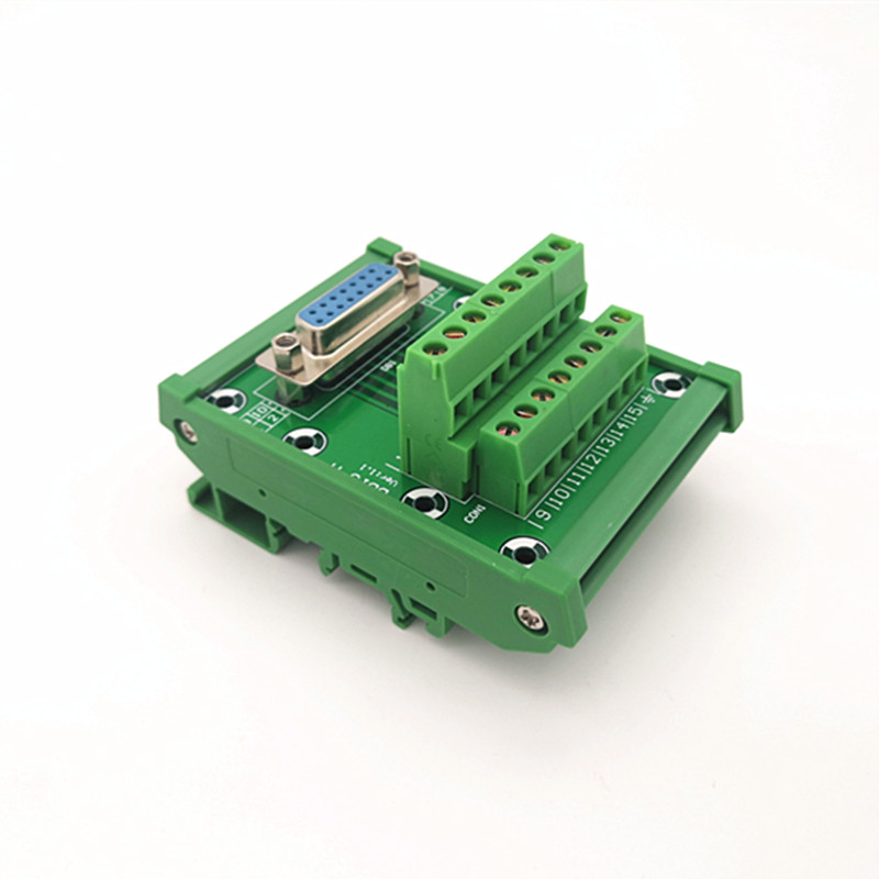 Female Header Breakout Board D-SUB DB25 Male Terminal Block Connector.