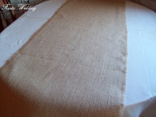 Rustic Burlap Wedding Table Runners | 12 inches wide