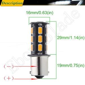 Image 3 - 10Pcs BAU15S LED Auto Lights Bulbs 5630 18SMD Amber Orange PY21W RY10W Car Coche Voiture Lampada Turn Signal Light Bulb Lamp 12V