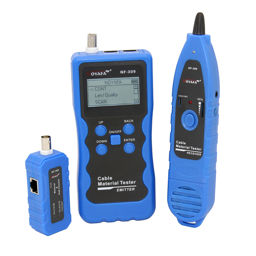 Free Shipping Noyafa lan cable tester cable Material cable length tester wire locator NF-309 POE  testerFree Shipping Noyafa lan cable tester cable Material cable length tester wire locator NF-309 POE  tester