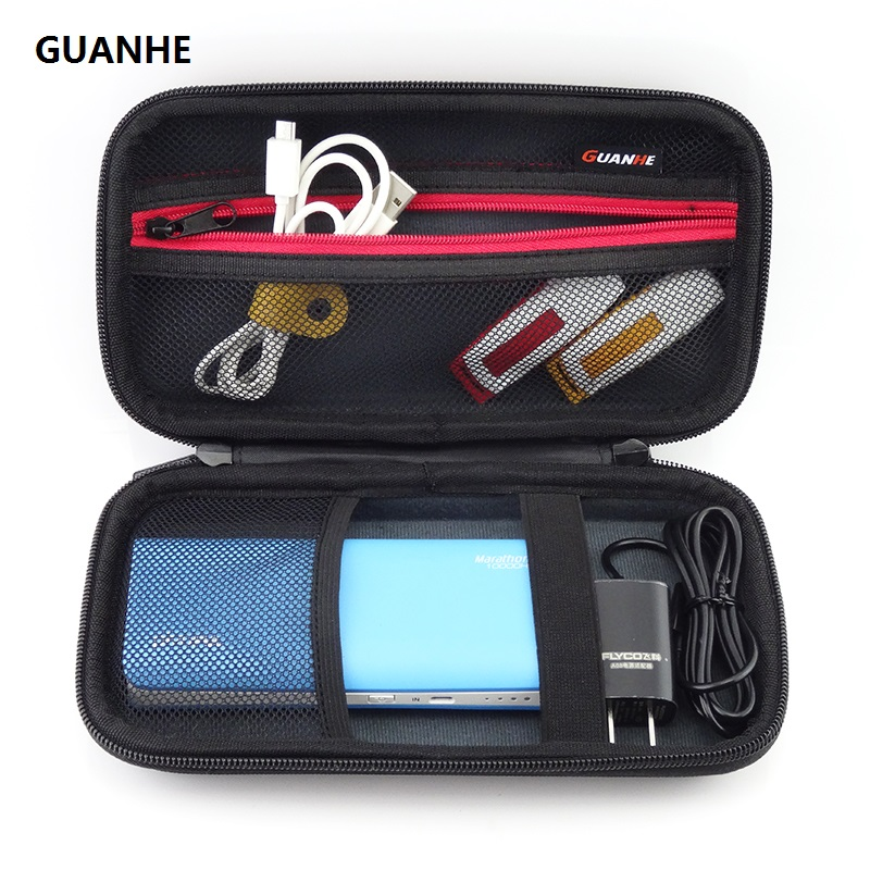 GUANHE Organizer Case Bag For WD My Passport Ultra / Samsung M3 Hard Drive/Power Bank/Adapter/Battery Storage Accessories Bag
