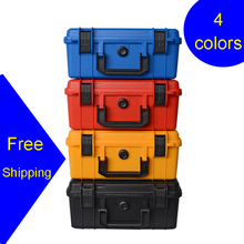 280x240x130mm Safety Instrument Tool Box ABS Plastic storage Toolbox Sealed Tool case box With Foam Inside 4 color