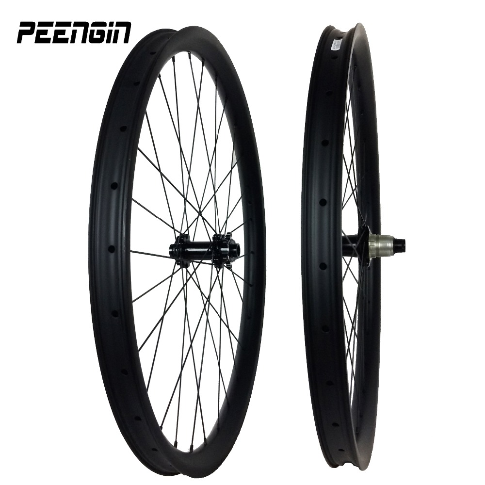 Carbon mtb wheels 29er 40X30mm Clincher Hookless Tubeless Compatible DH downhill wheelset 27.5er bicycle part online cheap sale