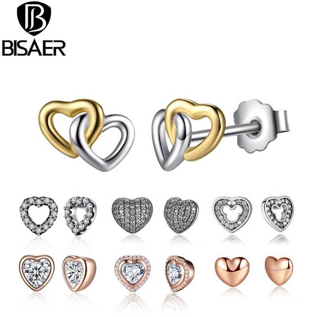 1f20a9490 24 Styles 925 Sterling Silver Bowknot Heart Cat Stud Earrings For Women  Fashion Small Round Earrings Jewelry Brincos Bijoux Gift