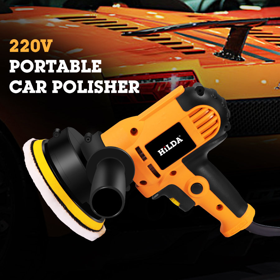 220V Electric Car Polisher Machine Auto Polishing Machine Adjustable Speed Sanding Waxing Tools Car Accessories Powewr