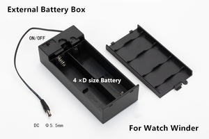 Battery-Box with 4-D Watch-Winder Power-Pack R20 External High-Quality