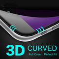 Full Covered Screen Protector 3D Round Edge Toughed Film Tempered Glass Curved Premium For iPhone 7 7 Plus free shipping