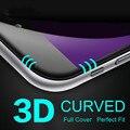 Protector de pantalla 3d borde redondo completo cubierto toughed película de vidrio templado curvo premium para iphone 7 7 plus envío gratis