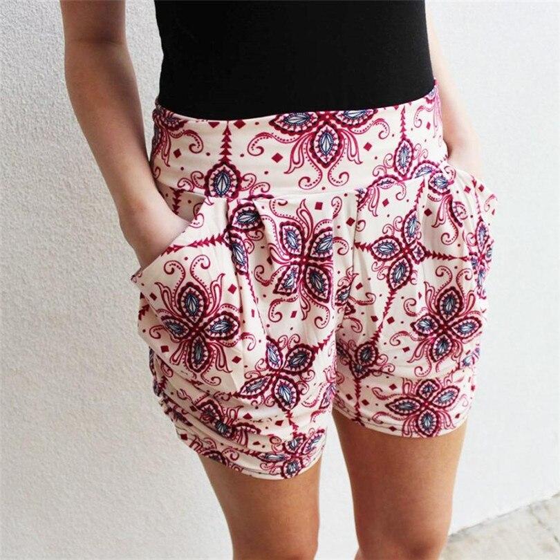 11 11 2017 Durable Hotselling Sexy Shorts Frauen Blumen Druck Hohe Taille Shorts Sommer Beiläufige Kurze Hosen #35 Unterscheidungskraft FüR Seine Traditionellen Eigenschaften