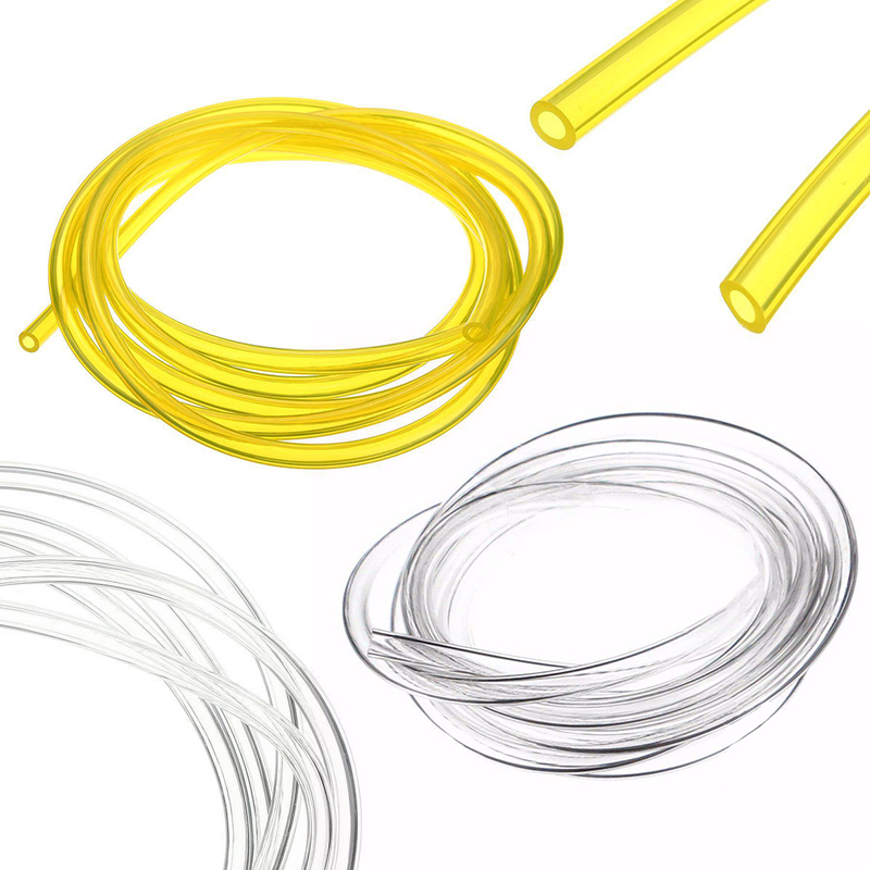 DWZ 2M 3*6MM Smooth Petrol Fuel Tube Diesel Oil Line Soft Pipeline Hose Gas Pipe oil leakage suction pipe siphon tube hose manual fuel transfer pump sucker fuel tank180cm auto vehicle necessary ad1002