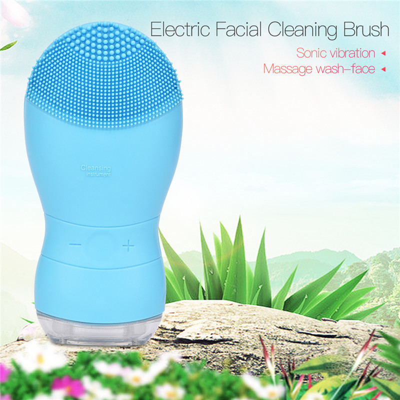Face Scrubber Brush High Frequency Vibration Facial Cleaning Brush