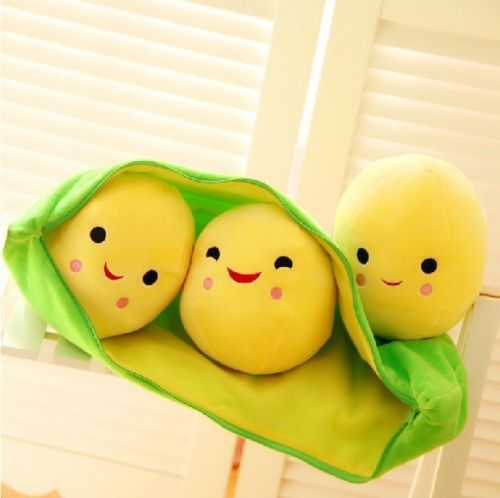 Кэндис Го! Новое поступление супер мило улыбающееся маленькие горох плюшевые игрушки куклы 3 горох в Pod горох 1 шт.
