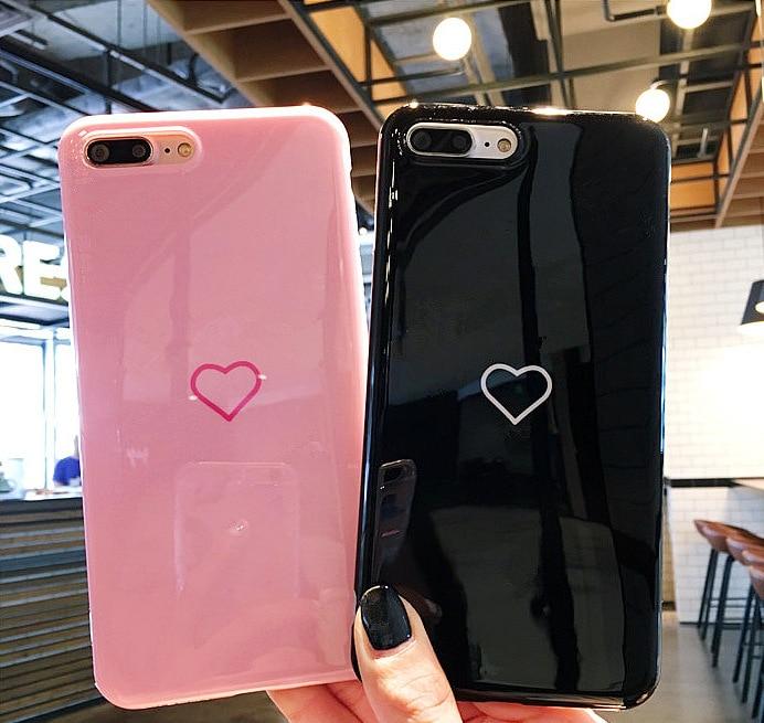 Сердце любовь Чехол глянцевый для iPhone 6 S 6 Plus 6S 8 плюс силиконовый розовый чехол Коке чехол для Iphone X 10 iPhone 7 плюс 8 плюс Чехол