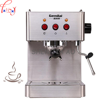 1pc 220V 1450W Commercial Stainless Steel Multi Function Semi automatic Italian Coffee Maker 15bar Steam Grilled Coffee Maker