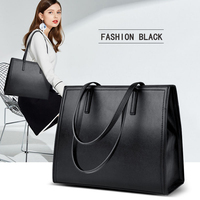 2019 New High Quality Women Pu Leather Handbags Big Casual Female Bags Tote Shoulder Bag Ladies Large Bolsos Famous designer Hot