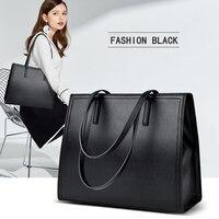 2019 New High Quality Women Pu Leather Handbags Big Casual Female Bags Tote Shoulder Bag Ladies Large Bolsos Famous designer Hot