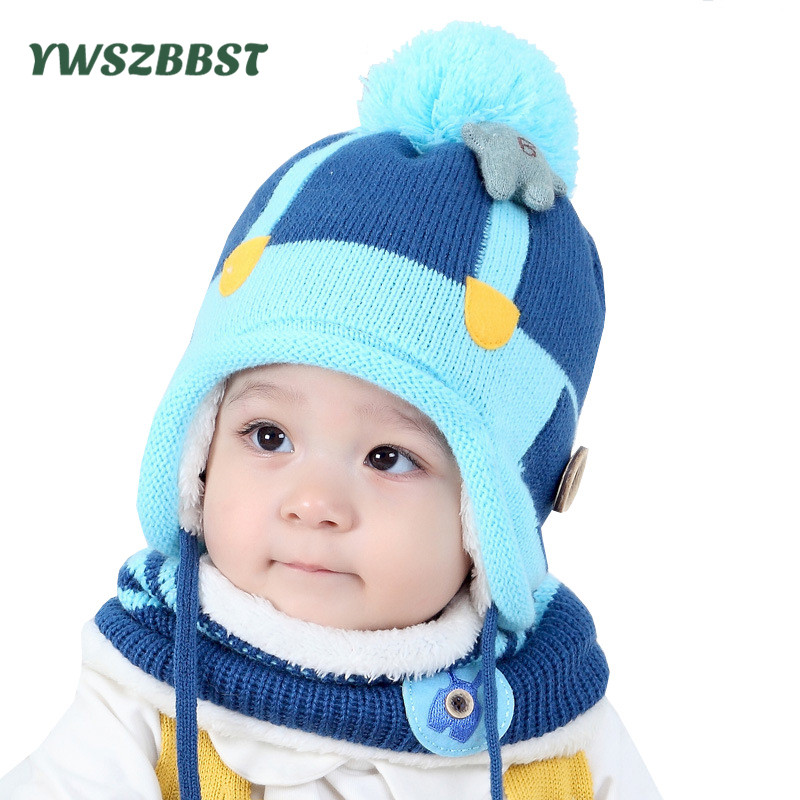 Baby Hat Fashion Baby Hat Scarf set Children Winter Hats for Girls Cotton Warm Knitted Beanie Cap fit 7 to 36 Months alishebuy new big sale fashion unisex hats women men warm beanie hat ski winter cap hip hop woman letter print thick hat 29
