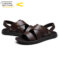 Camel Active NEW Men Sandals Fashion Leather Male Beach Sandals Summer Men Sandals Fashion Breathable Casual Male Footwear
