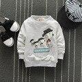 Малыш Топы Моды Audel Хлопок Sweatershirt Длинным Рукавом Футболки Зима Дна Рубашки 60-90 см Детская Одежда G126
