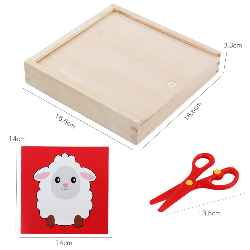 Image 5 - 60pcs Kids cartoon color paper folding and cutting toys wooden storage box/children kingergarden art craft DIY educational toys-in Craft Toys from Toys & Hobbies