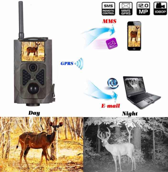 Motion Detection Infrared 12mp Trail Hunting Camera For Animal Observation 1080p Video free shipping wildlife hunting camera infrared video trail 12mp camera
