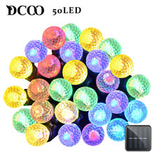 Dcoo Solar LED String Lights 8 Modes 50 LEDs Ball Outdoor Lighting Garden Party Holiday Wedding Decoration String Light Colorful