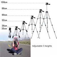 Outdoor Extendable Mobile Smart Phone Digital Camera Tripod Stand Mount Holder Clip Set for Canon for iPhone Xiaomi Huawei