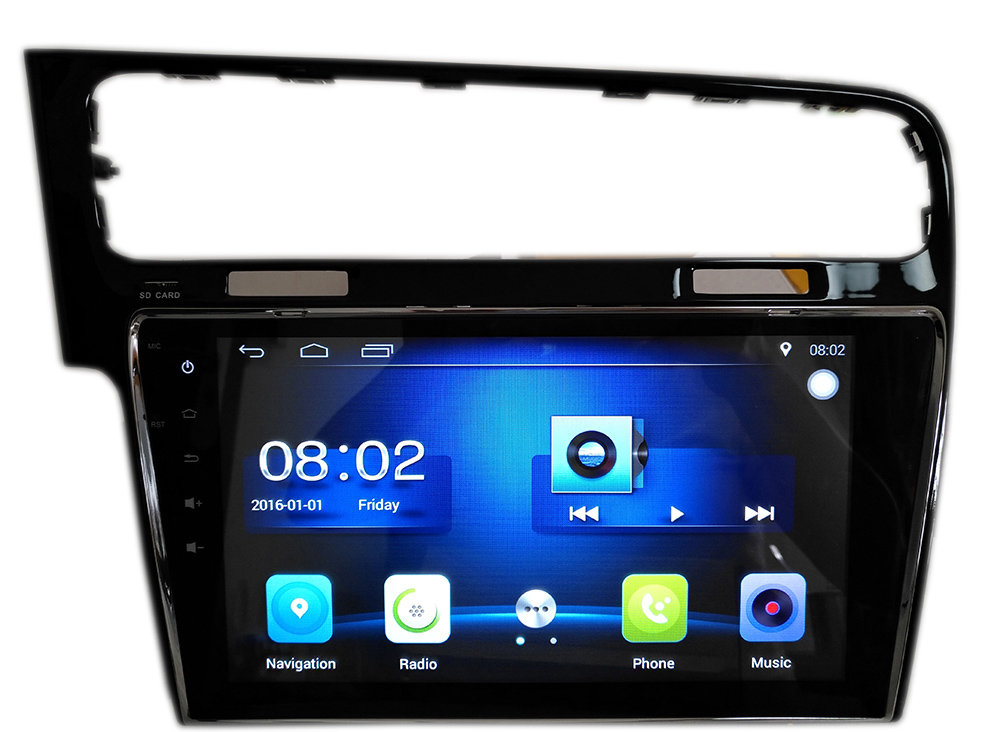 10 2 android6 0 car radio player with gps for vw golf 7. Black Bedroom Furniture Sets. Home Design Ideas