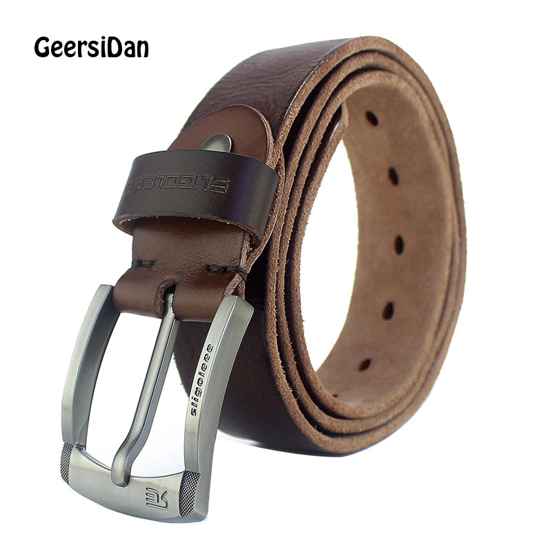 GEERSIDAN New Fashion Designer Belts for Men pin Buckle brand Luxury Leather Men Belt Hi ...