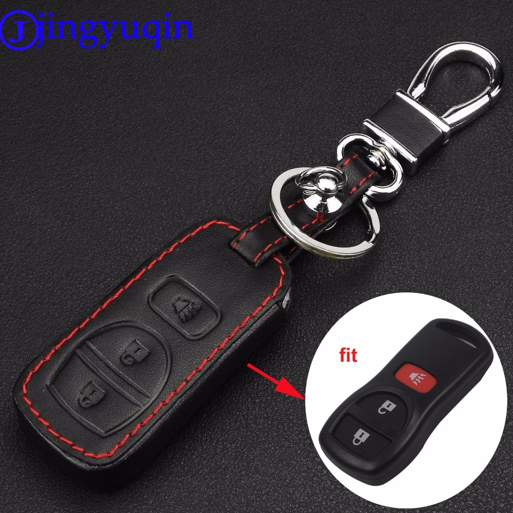 jingyuqin 3 Buttons Leather Car Cover Case For Nissan Armada Frontier Murano Pathfinder Quest Titan Xterra 2005 2006 2007