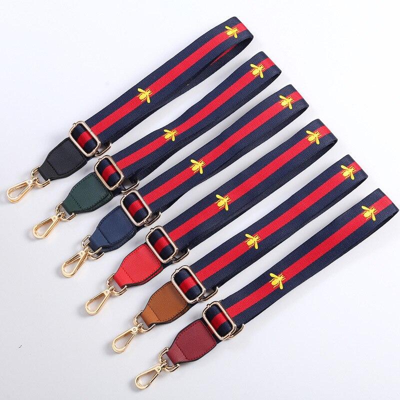 long shoulder bag handbag embroidery color ribbon national wind hit color adjustable adjustable shoulder
