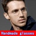 Óculos artesanais quadro Screwless Business óculos Miopia quadro Criativo Retro homens Oliver eyewear