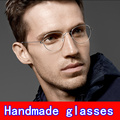 Ручной очки кадр Безвинтовое Бизнес очки Близорукость кадров Творческий Ретро мужчины Оливер очки