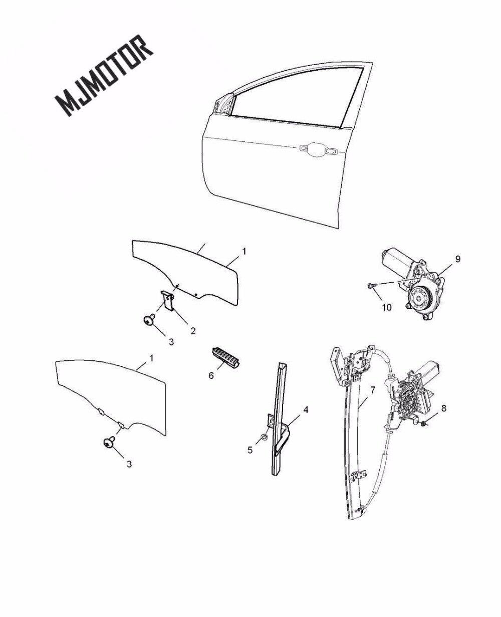 Support régulateur de fenêtre assy. Avec moteur gauche droite avant côté arrière pour chinois SAIC ROEWE 350 MG5 Auto voiture moteur partie 10096926 - 6