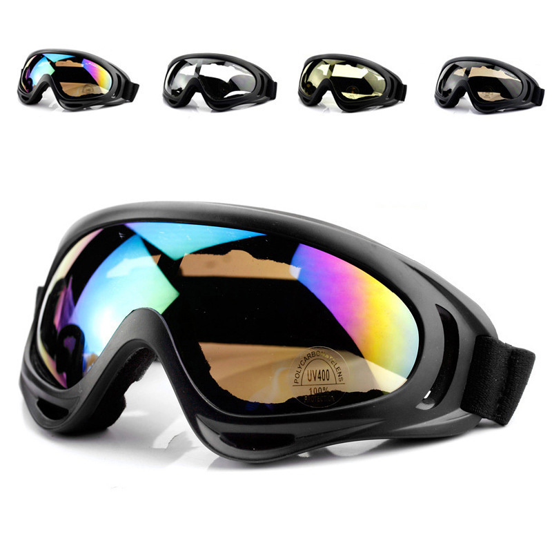 Outdoor Goggles Riding Motorcycle Sports Goggles Windproof Glasses Ski Goggles Airsoft Five Color Protective Glasses