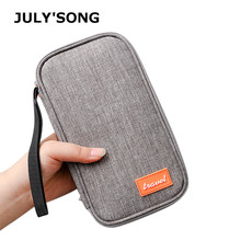 JULYS SONG Cation Waterproof Travel Passport Wallet Card Package Portable Multifunction Credit Holder 22x12x2.5cm
