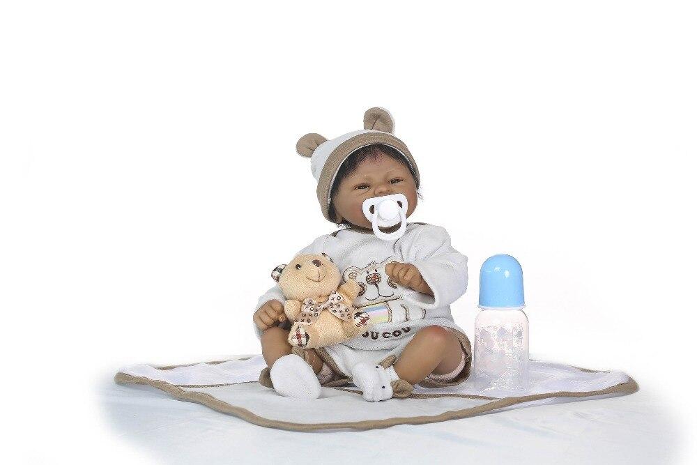 Npk 살아있는 boneca reborn 연약한 실리콘 진짜 실리콘 reborn 아기 인형 까만 bebe 뜨거운 장난감 여자를위한 크리스마스 선물-에서인형부터 완구 & 취미 의  그룹 2