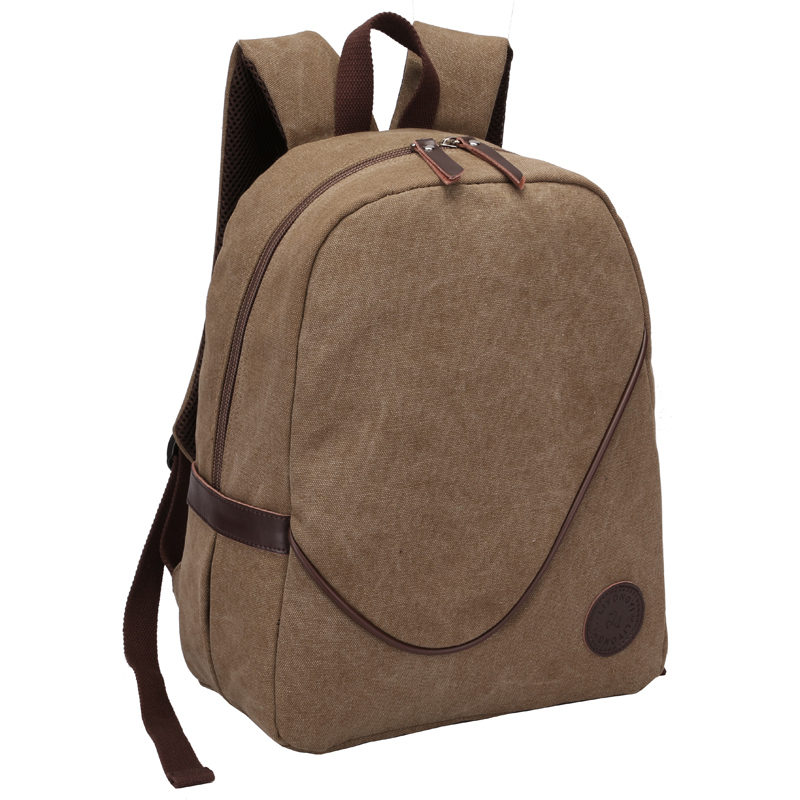 Canvas Backpack Travel-Bag Casual Men Zipper Solid for Bolsa Masculina Men's High-Quality