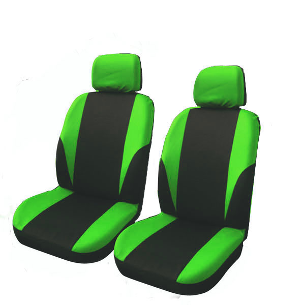 Universal Black//Blue Polyester Comfortable New Car Seat Covers W//HeadRest Cover